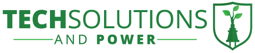 Tech Solutions and Power Logo
